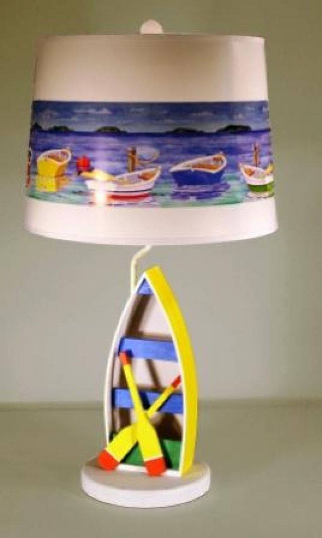Yellow Rowboat Electric Lamp 29