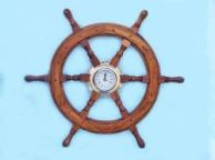 Ship Wheel Porthole Clocks