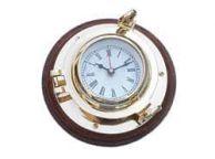 Brass Porthole Clock 10