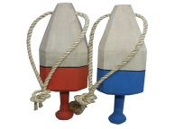 Set of 2 - Wooden Square Buoys 15