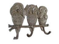 Cast Iron Owl Wall Hooks 9\
