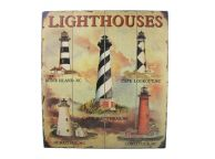 Wooden Lighthouse Wall Plaque 24