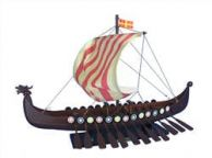 Wooden Viking Drakkar Model Boat 24