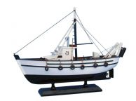 Wooden Seaworthy Model Fishing Boat 14