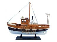 Wooden Knot Working Model Fishing Boat 16