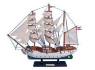 Wooden Danmark Tall Model Ship 14