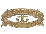 Brass Crews Quarters Door Sign 8