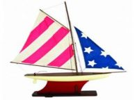Wooden American Flag Sailboat 35