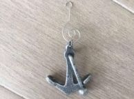 Antique Silver Cast Iron Anchor Christmas Ornament 5