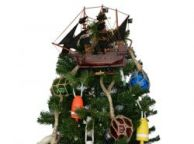 Wooden John Halseyandapos;s Charles Pirate Ship Model Christmas Tree Topper Decoration