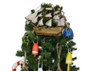 Wooden Mayflower Model Ship Christmas Tree Topper Decoration