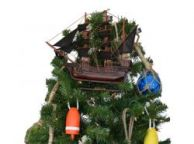 Wooden Edward Englandandapos;s Pearl Pirate Ship Christmas Tree Topper Decoration