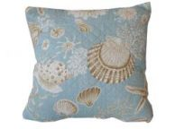 Quilted Natural Shells Decorative Throw Pillow 14