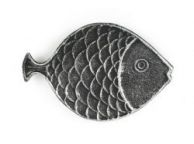 Antique Silver Cast Iron Fish Decorative Plate 8
