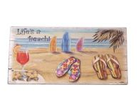 Wooden Sandal Lifes a Beach Sign 16