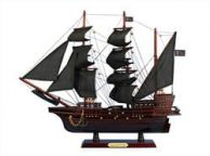 Wooden Blackbeardandapos;s Queen Anneandapos;s Revenge Model Pirate Ship 20