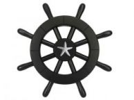 Pirate Decorative Ship Wheel With Starfish 12