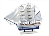 Wooden Malibu Decorative Sailing Model Ship 15