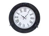 Oil Rubbed Bronze Deluxe Class Porthole Clock 20