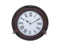 Bronzed Deluxe Class Porthole Clock 20