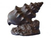 Rustic Iron Conch Shell Door Stop 9