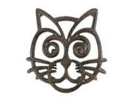 Cast Iron Cat Trivet 7\