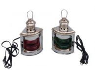Chrome Port and Starboard Electric Lantern 12