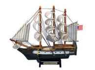 Wooden USS Constitution Tall Model Ship 7\