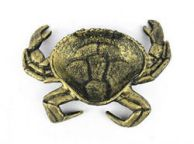 Antique Gold Cast Iron Crab Decorative Bowl 7