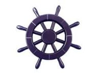 Dark Blue Decorative Ship Wheel 12