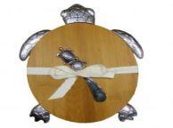 Turtle Design Cutting Board with Spreader 11