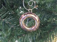 Solid Brass Lifering Christmas Ornament 5