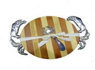 Bamboo Crab Cutting Board with Spreader 11