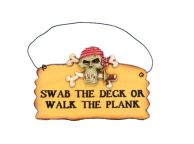 Wooden Swab The Deck Pirate Sign 8