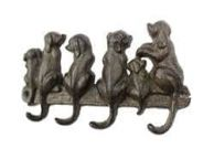 Cast Iron Dog Wall Hooks 8\