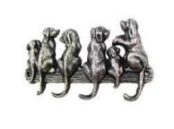 Rustic Silver Cast Iron Dog Wall Hooks 8