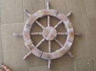 Rustic Seaworn Decorative Ship Wheel 18