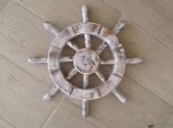Rustic Seaworn Decorative Ship Wheel 12