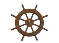 Flying Dutchman Ghost Pirate Decorative Ship Wheel With Seagull 18