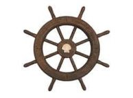 Flying Dutchman Ghost Pirate Decorative Ship Wheel With Seashell 18