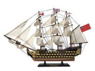 Wooden HMS Victory Tall Model Ship 24