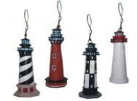 Lighthouse Ornament 3 - Set of 4