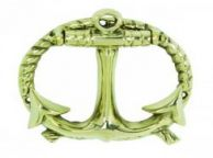 Solid Brass Anchor with Rope Door Knocker 5