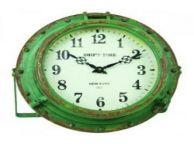 Iron Rustic Seaworn Porthole Clock 9