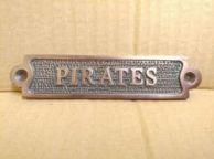 Antique Copper Pirates Sign 6