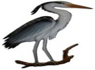Blue Heron Bird Replica 28