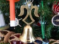 Brass Angel Bell Christmas Tree Ornament