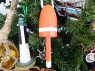 Wooden Orange Lobster Trap Buoy Christmas Tree Ornament