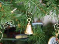Brass Plated Bell Christmas Tree Ornament