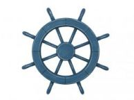 Rustic All Light Blue Decorative Ship Wheel 18